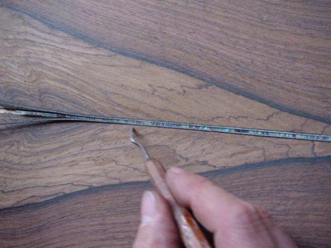 Center Seam Inlay Detail