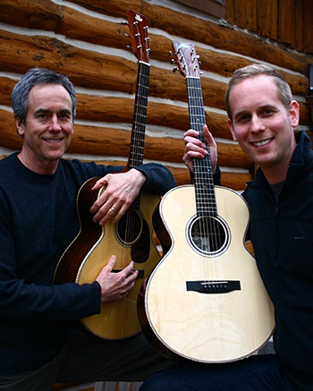 Father and Son with 2 FBG Model M Guitars